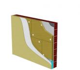 Σύστημα θερμομόνωσης εξωτερικής τοιχοποιίας με πετροβάμβακα