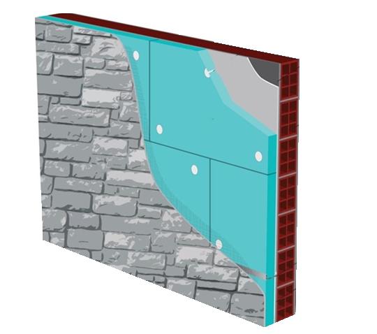 Σύστημα θερμομόνωσης εξωτερικής τοιχοποιίας με εξηλασμένη πολυστερίνη