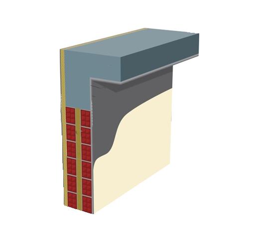 Θερμομόνωση δικέλυφης τοιχοποιίας