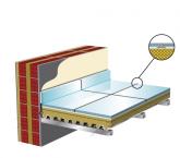 Θερμομόνωση και ηχομόνωση δαπέδων πλακιδίων σε μεταλλικό πατάρι