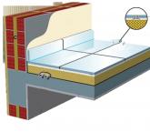 Θερμομόνωση και ηχομόνωση δαπέδων πλακιδίων σε όροφο