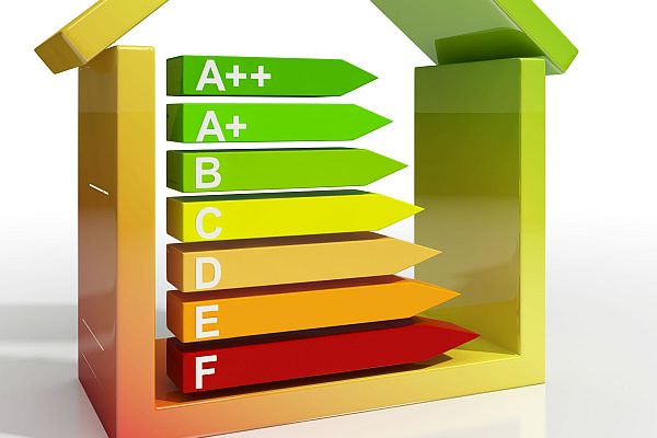 Energy Efficiency Rating Icon Showing Green Housing